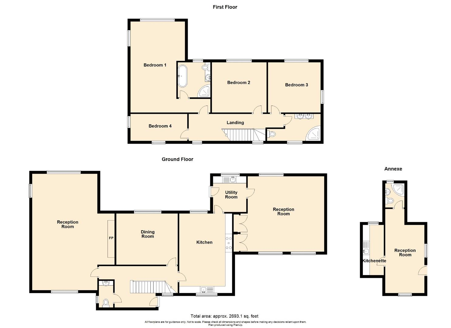 4 Bedroom Barn Conversion For Sale - Floorplan 1
